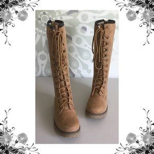 {Madden Girl} Yumi Tall Lace-Up Boots